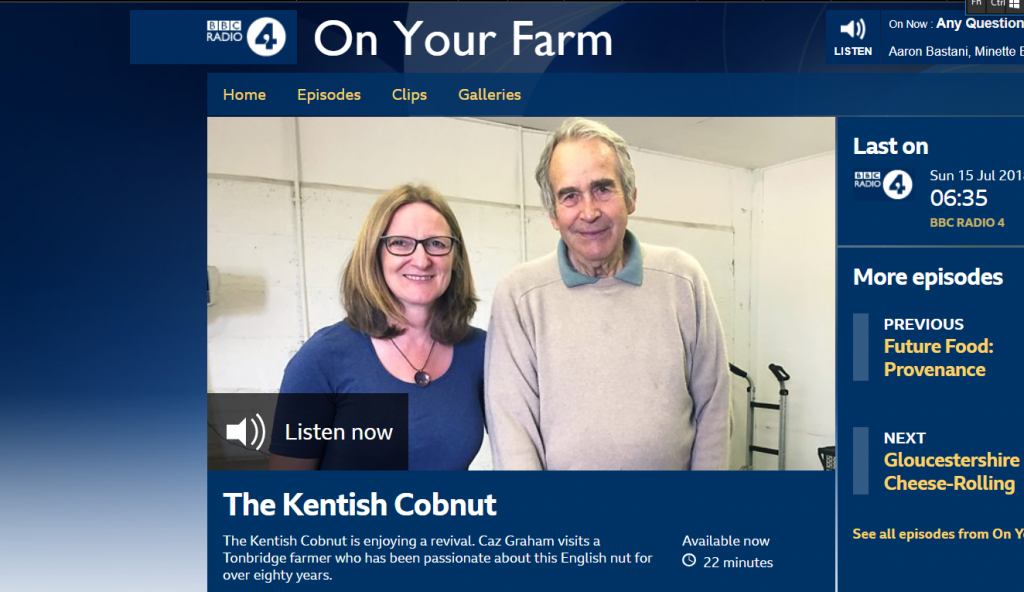 Radio 4, On your farm, Kentish Cobnuts