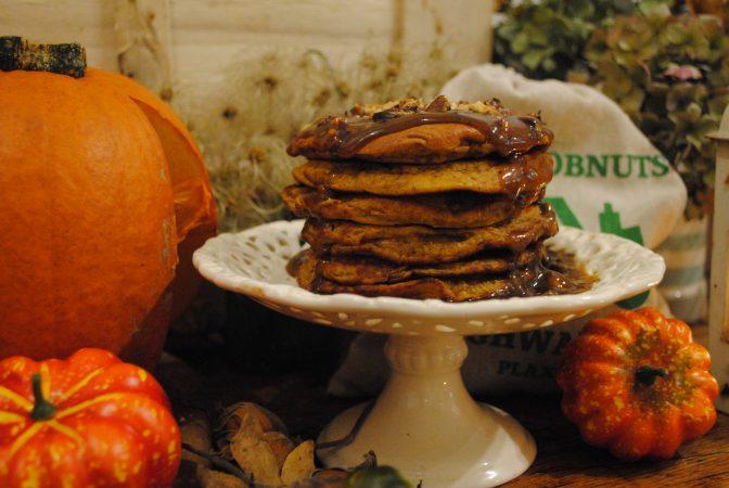 Kent cobnuts on pancakes Halloween