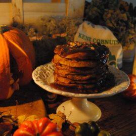 Halloween Pancakes Cobnut and caramel