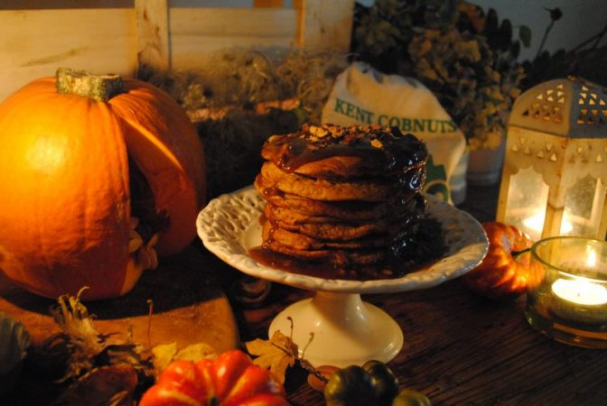 Halloween Pancakes Cobnut and caramel