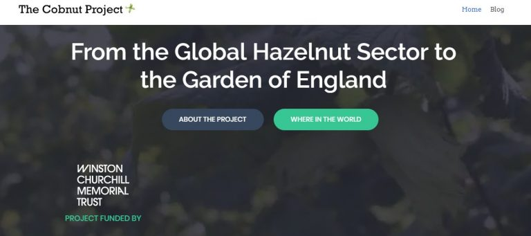 Image of the cobnut project website