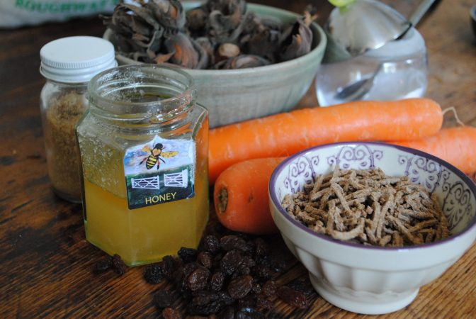 Ingredients for Carrot and cobnut muffins recipe