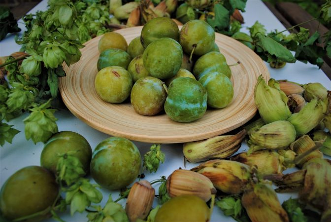 Greengages and cobnuts