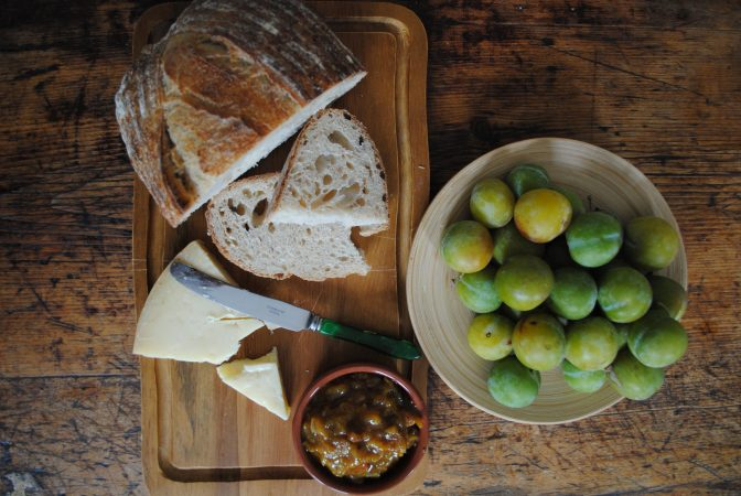 Teston Bakery Sourdough with Greengages and Cobnut and Greengage Chutney