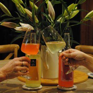Cheers! Enjoying the apple harvest with Kentish Apple Juice