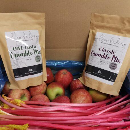 Apple and Rhubarb Crumble box