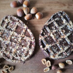Cobnut Chocolate Flat Easter Egg